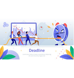 Working hard to finish work in time poster vector