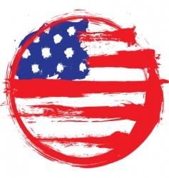 America circle flag vector image