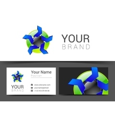 business card for your business logo with abstract vector image