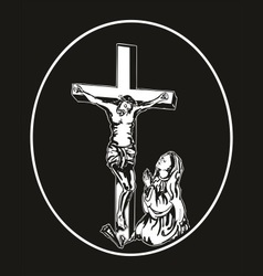 jesus crucifixion vector image