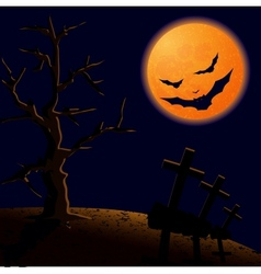 On Halloween night vector image