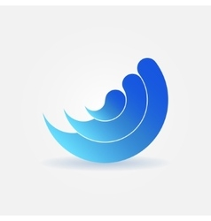 Wave icon or logo vector image