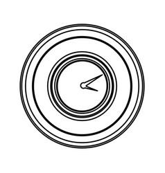 contour emblem clock icon vector image vector image