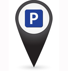 GPS marker with parking sign vector image