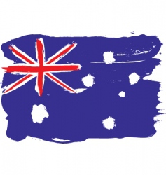 Australia grunge flag vector image vector image