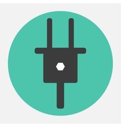 electrical plug icon vector image