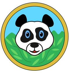 Panda bear head vector image