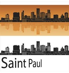 Saint Paul skyline in orange background in vector image vector image