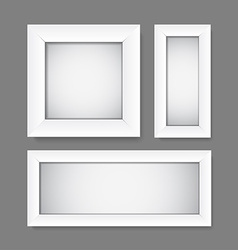 simple empty white frames vector image vector image