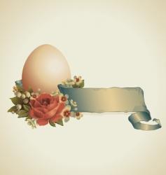 vintage Easter design vector image