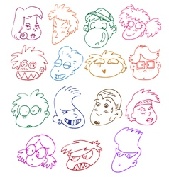 comics characters set vector image