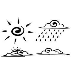 Sketch Set forecast icon vector image vector image