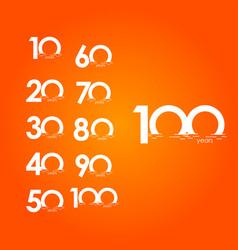 100 years anniversary celebration sunset gradient vector