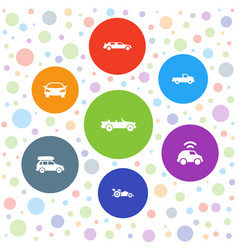 7 automotive icons vector