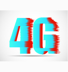 abstract 4g internet wirelles connection of vector image