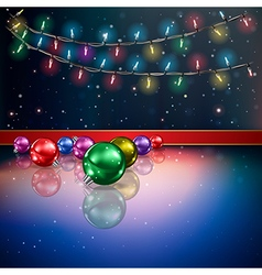 Abstract background with Christmas lights and vector image