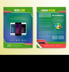 Abstract Brochure Template with smartphones Flyer vector