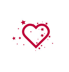 add to favorites icon - heart with stars vector image