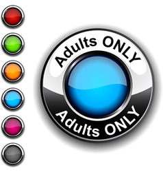Adults only button vector