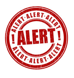 Alert sign or stamp vector