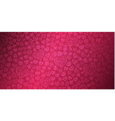 background hearts on valentines day vector image