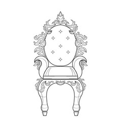 Baroque furniture rich set collection ornamented vector
