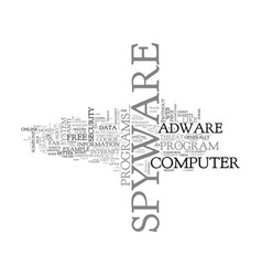 Basic spyware tips text word cloud concept vector