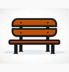 Bench design vector