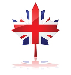 British maple leaf vector image