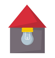Cartoon lamp light bulb design flat house vector