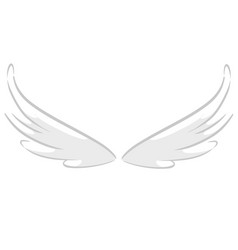 cartoon set of cartoon wings vector image