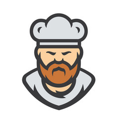 chef in a cook hat sign vector image