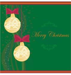 Christmas Framework style card vector