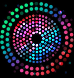Color circle on a black background vector