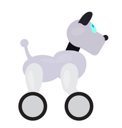 colored robot dog toy icon vector image