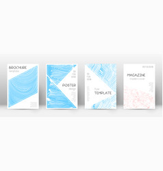 Cover page design template triangle brochure layo vector