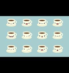 Cup emoji vector image