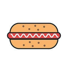 delicious food hotdog and gastronomy theme design vector image
