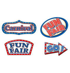 Different sign template for carnival vector