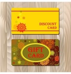 Discount card voucher gift certificate coupon vector
