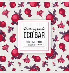 eco bar paper emblem with type design over vector image