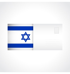 Envelope with flag of Israel card vector image