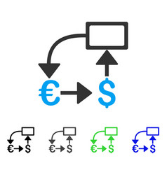 Euro dollar flow chart flat icon vector