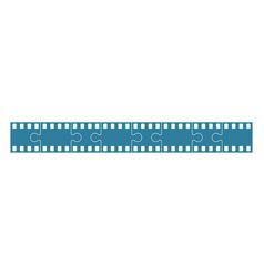 film stock as jigsaw vector image