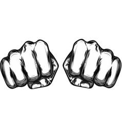 fist male hand proletarian protest symbol power vector image