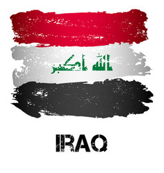 Flag of iraq from brush strokes vector