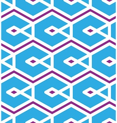 Geometric seamless pattern with rhombuses and vector