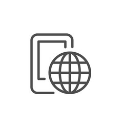 globalization line icon vector image