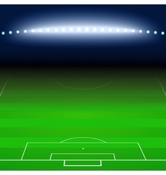 Green football soccer field white markings vector image