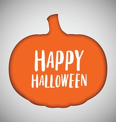 Halloween background pumpkin cut out shape vector